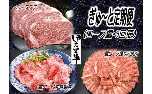 J204伊万里牛ぎゅ~と定期便ロース肉スペシャル(3回便)