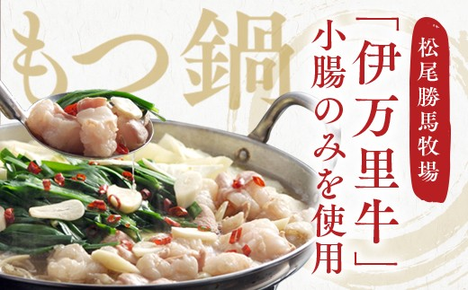 J218伊万里牛もつ鍋セット(ホルモン200g×2・スープ・麺・薬味付き)