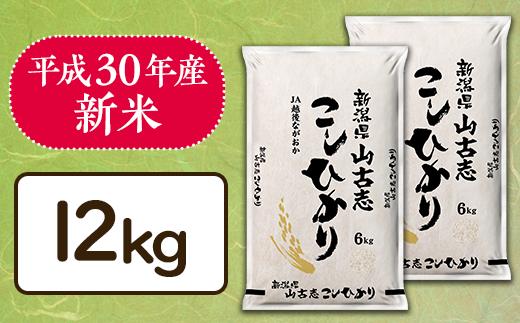 2-057【H30年産】新潟県長岡産コシヒカリ山古志地域棚田米12kg