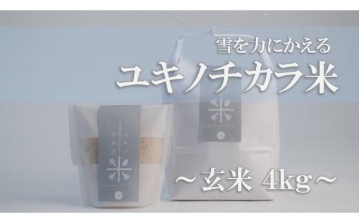 ユキノチカラ米 -玄米-(4㎏)
