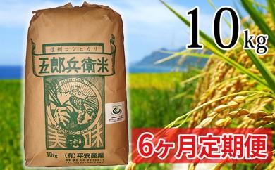 [№5865-0239] 【6ヶ月定期便】特別栽培米五郎兵衛米 10kg