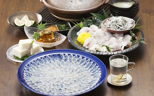 【E7-001】とらふぐ刺身と鍋セット(3~4人前)