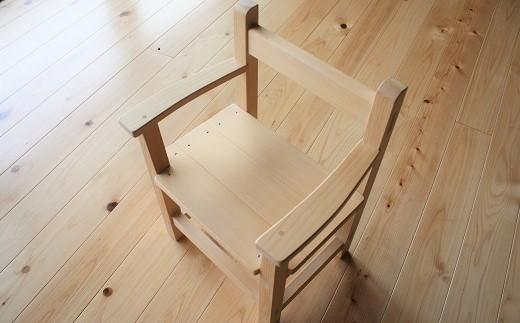 D-1.【かわいい手作り家具】子供用 木育チェア(肘あて付)