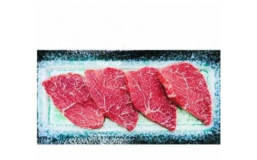 KY21【叶え屋】A4以上!九州産黒毛和牛ランプステーキ100g×4枚(豊後牛・頂)