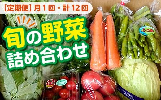 ☆【月1回・計12回】旬の野菜詰め合わせBOX【定期便】