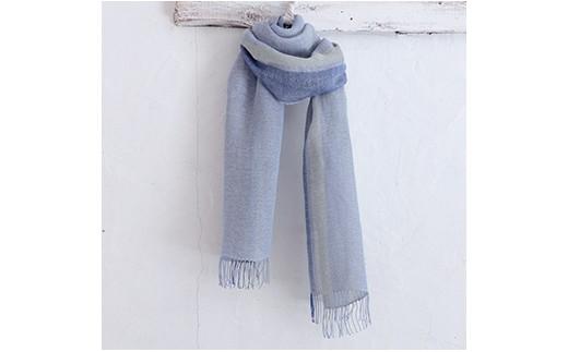H255 梅炭抄繊糸ストール ブルー