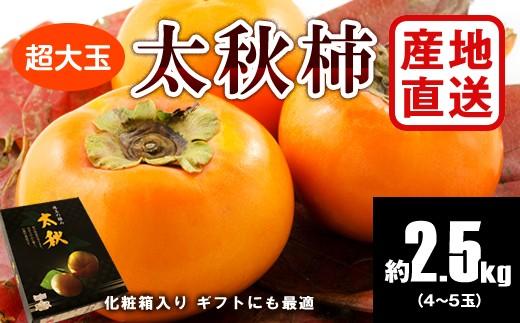 B766 【産地直送】太秋柿(大玉)化粧箱入