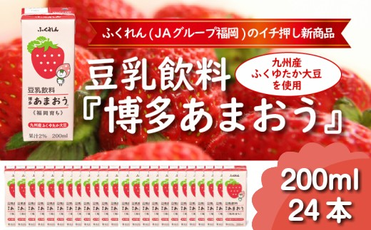 Z053.【大豆のちからを美味しく】豆乳飲料『博多あまおう』(200ml×24本)