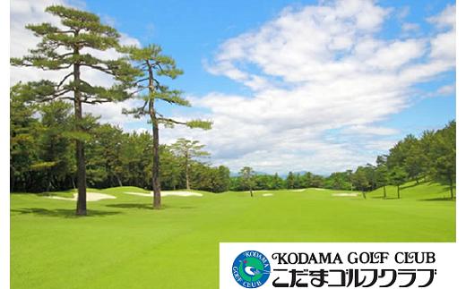 [№5535-0017]こだまゴルフクラブ 土日祝日ゴルフプレー券【4枚】