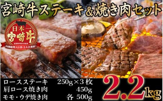 R-10 宮崎牛ステーキ・焼肉セット