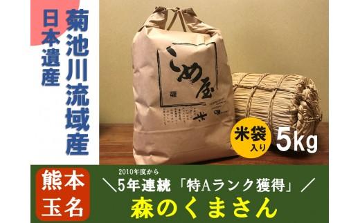 Z3 熊本県玉名産お米「森のくまさん」(5kg)