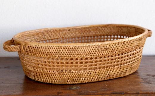 ☆バリ島発アタ製品 透かし編みお茶碗かご