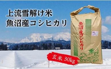 豪雪地帯ならではの風土が育んだ魚沼コシヒカリ(玄米30㎏)