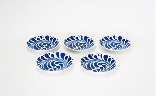 CB14 【波佐見焼】 NISHIYAMAJAPAN パーム小皿5枚セット【西山】-2