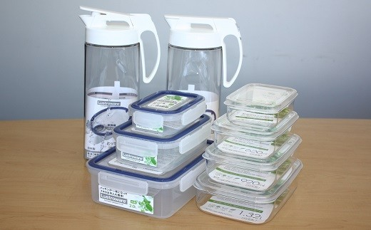【2-32】Lustroware冷水筒・保存容器詰合せセット