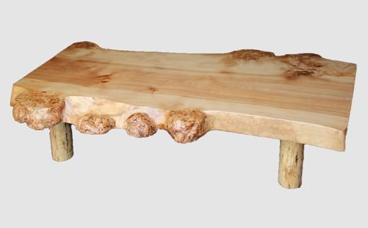 【05】座卓(テーブル)カバ・一枚天板【厚さ約6cm27kg】