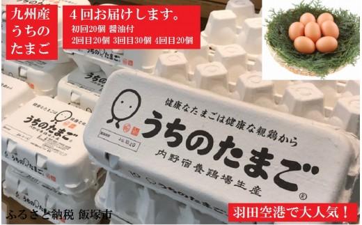 【B-027】うちのたまご醤油セット(4回お届け)