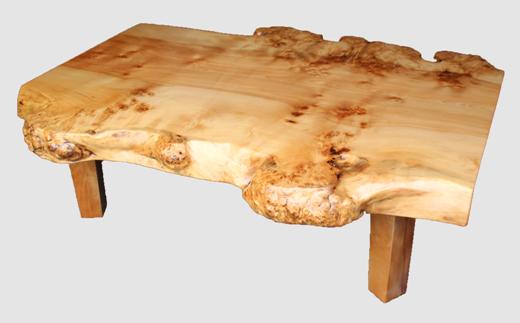 【04】座卓(テーブル)カバ・一枚天板【厚さ約6cm29kg】