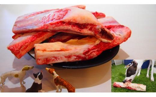 A338 愛犬用国産和牛生骨800gほどよくお肉付