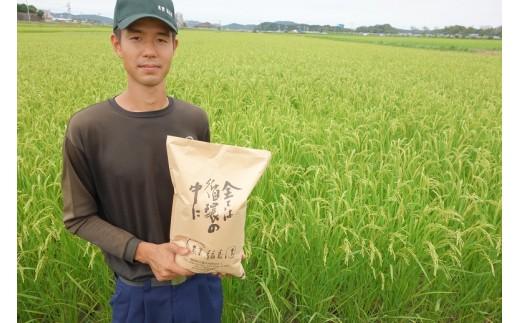 B73【毎月お届け】農薬肥料不使用のお米「ヒノヒカリ5㎏(2.5㎏2袋)」×12か月定期便