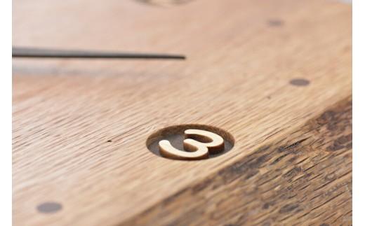 木製時計【三富平地林間伐材使用】 ケヤキ