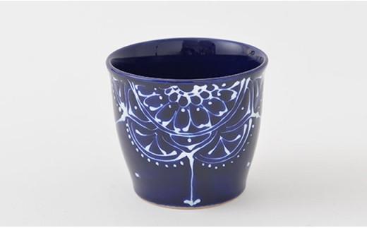 PA67 【波佐見焼】Lapis Lazuli Blueレース マルチカップ5個セット【福田陶器店】-2