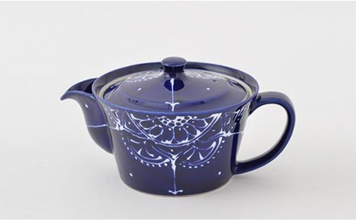 PA65 【波佐見焼】Lapis Lazuli Blueレース ティータイムセット【福田陶器店】-2