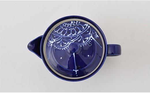 PA65 【波佐見焼】Lapis Lazuli Blueレース ティータイムセット【福田陶器店】-3