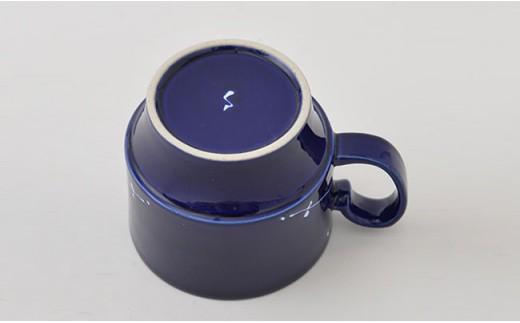 PA64 【波佐見焼】Lapis Lazuli Blue レース スタッキングマグカップ5個セット【福田陶器店】-3