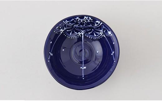 PA68 【波佐見焼】Lapis Lazuli Blueレース 丸小鉢5個セット【福田陶器店】-3