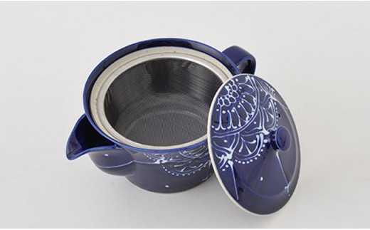 PA65 【波佐見焼】Lapis Lazuli Blueレース ティータイムセット【福田陶器店】-4