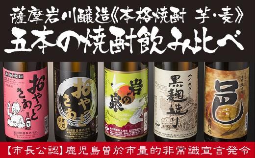 A-50 岩川特選飲みくらべセット!たっぷり900mlが5本も届く!