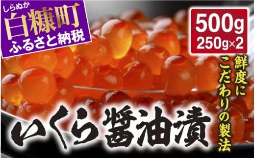 [№5723-0316]いくら醤油漬【500g(250g×2)】
