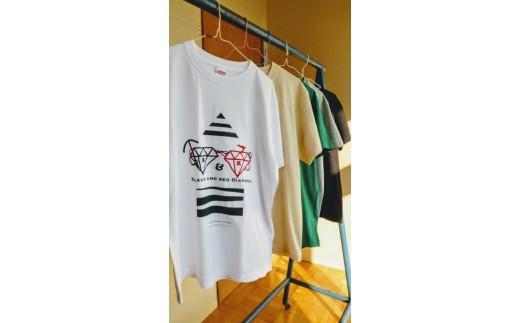 C4 夕張オリジナル手刷りTシャツ【Black & Red Diamond】(子ども用)