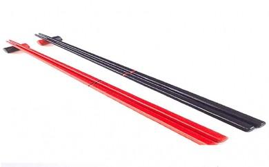 [№5799-0216]六角箸(朱)(黒)