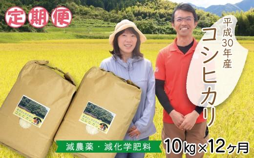 L-1【お米の定期便】高本さんちのお米コシヒカリ10㎏(年12回)