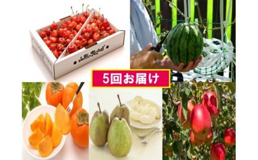 FY18-842【先行予約】フルーツ定期便 ボリュームセット(5回)