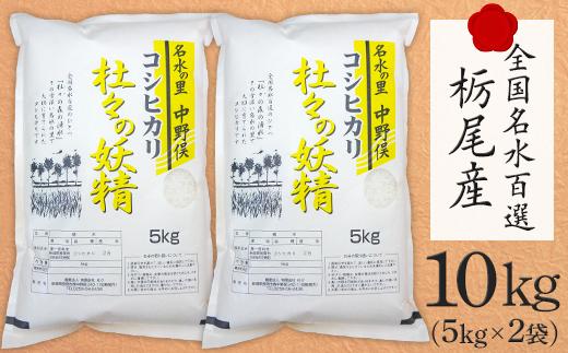 杜々の妖精コシヒカリ10kg(全国名水百選栃尾産5kg×2袋)
