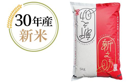 1-413【H30年産】新潟県長岡産「新之助」5kg