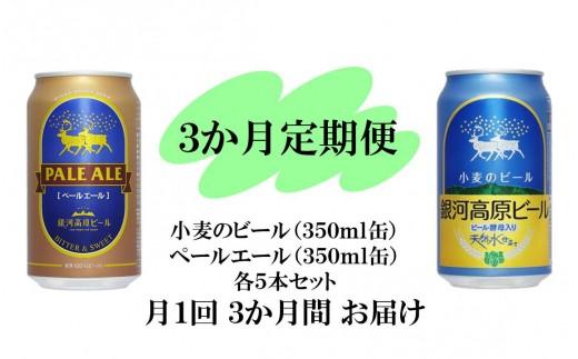 銀河高原ビール 二種のビールセット3か月定期便