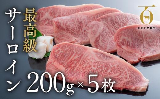 J4-02 「おおいた和牛」サーロインステーキ(200g×5枚)