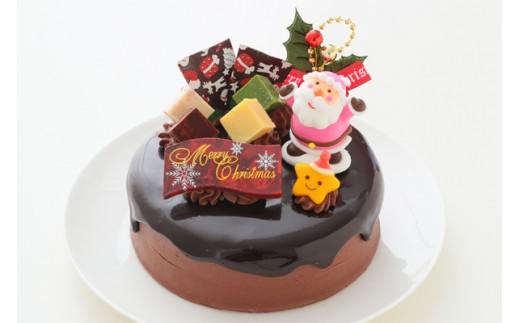 クリスマスケーキ ドリップ クリスマス チョコケーキ 5号 ホール型 _0N31