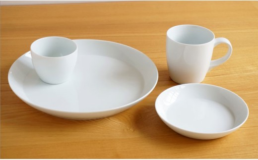 TA40 【4人分の食器セット】S-lineの25ピースセット【白山陶器】【波佐見焼】-2