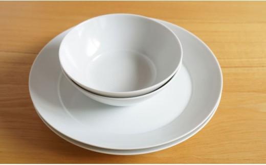 TA34 【2人分の食器】ミストホワイト 4ピースセット【白山陶器】【波佐見焼】-2