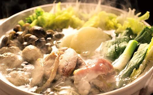 絶品きじ鍋セット(塩だれ)。鍋にかかせない葉ニンニク付き