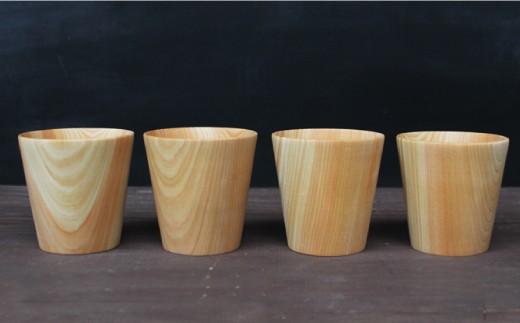 mokuzai03.天然ひのきカップ 4個セット