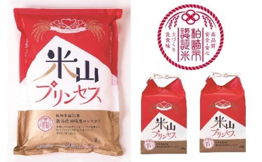 [B248]今秋デビュー!プレミアム認証米「米山プリンセス」白米(2kg×1袋、300g×2袋)