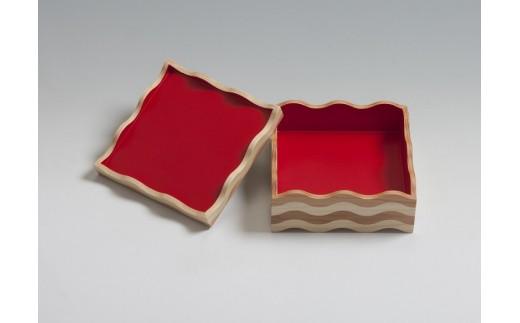 50011 tonono oju- M 朱 蓋付きと 箸置き(5個セット)