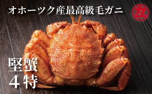 10-174 オホーツク産【四特】毛ガニ(550g前後)