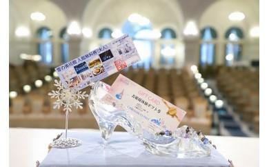 「雪の美術館入館チケット2名様分」と「お姫様体験チケット」